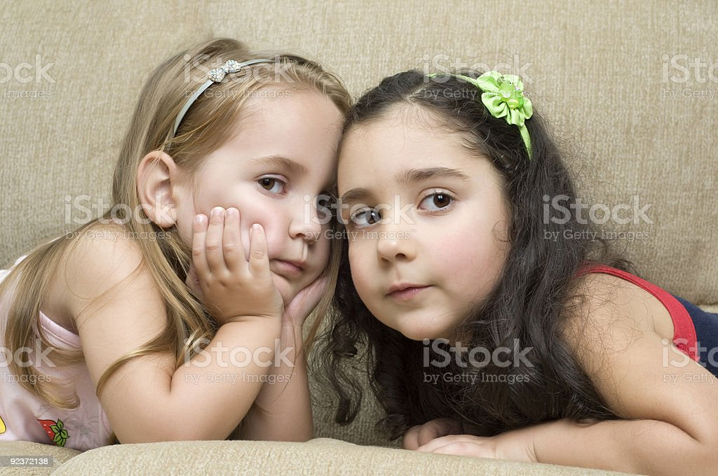 two cute little girls royalty-free stock photo