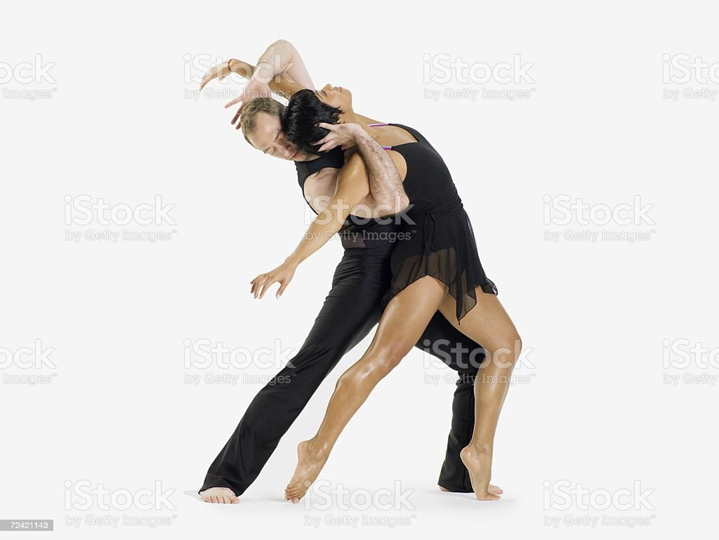 Two dancers performing royalty-free stock photo