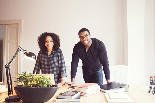 Two Designers In The Office Stock Photo - Download Image Now