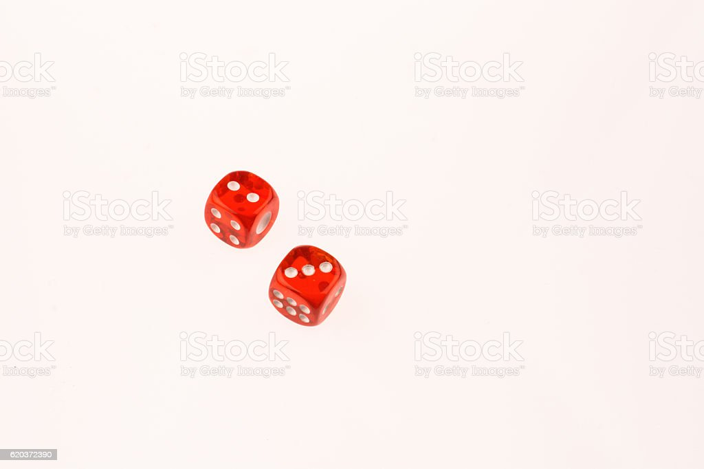 Two dice on a table foto de stock royalty-free