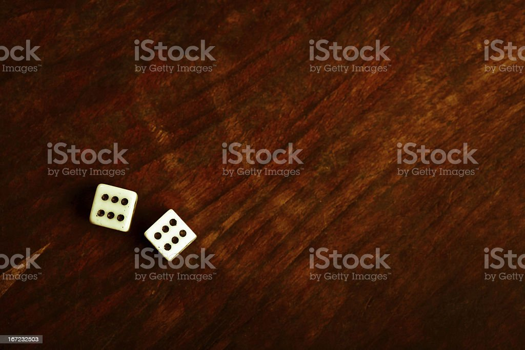 Two dice royalty-free stock photo