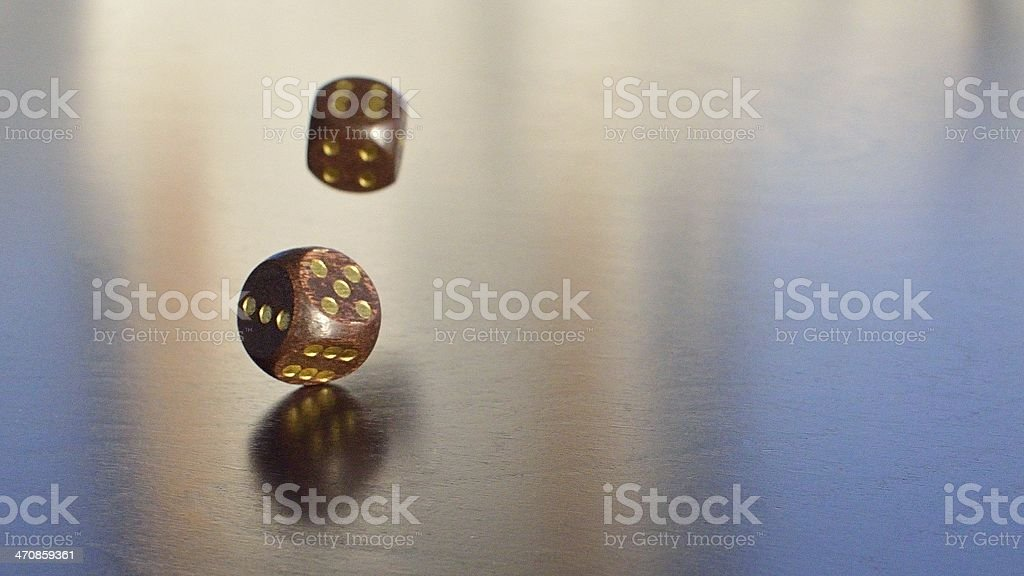 two dices falling royalty-free stock photo