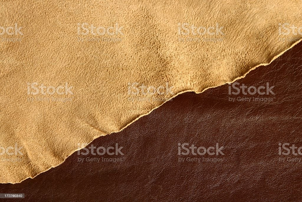 Two different Leather Layers 4 royalty-free stock photo
