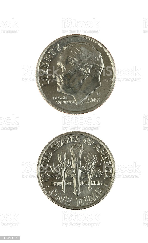 Two Dimes royalty-free stock photo