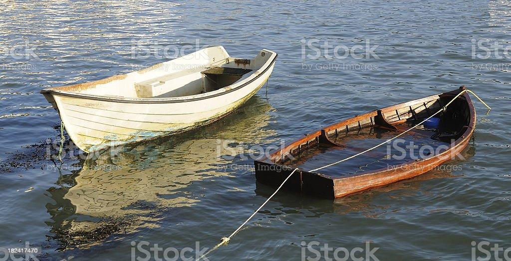 Two Dinghys, Dartmouth royalty-free stock photo