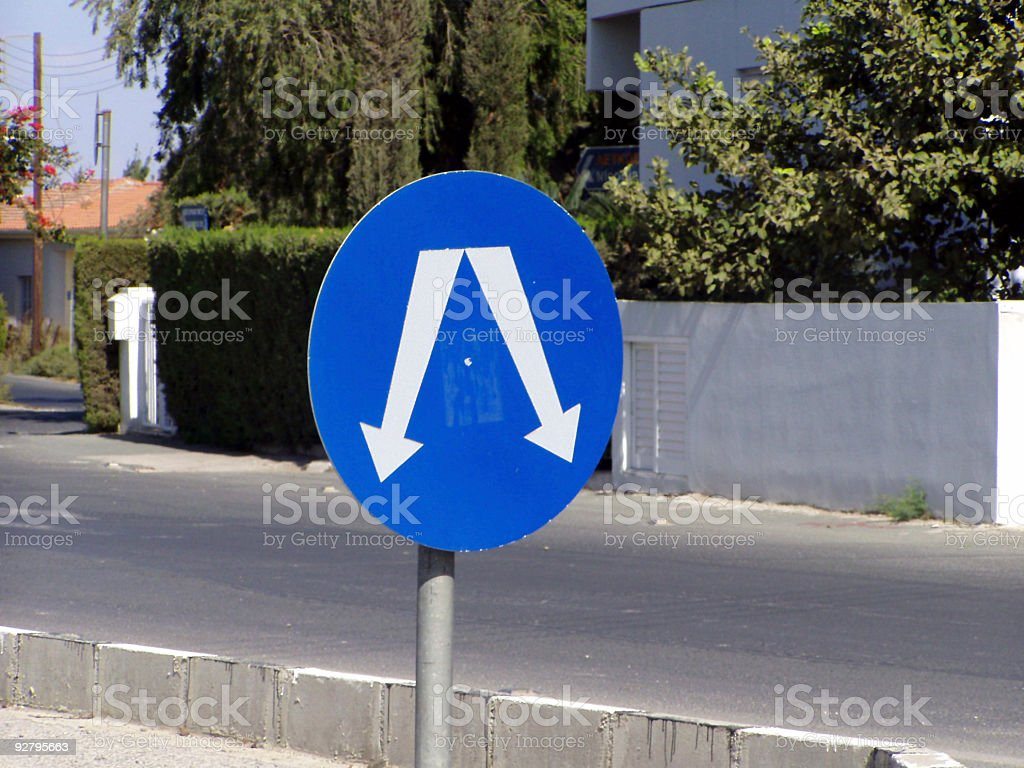 Two directional sign royalty-free stock photo