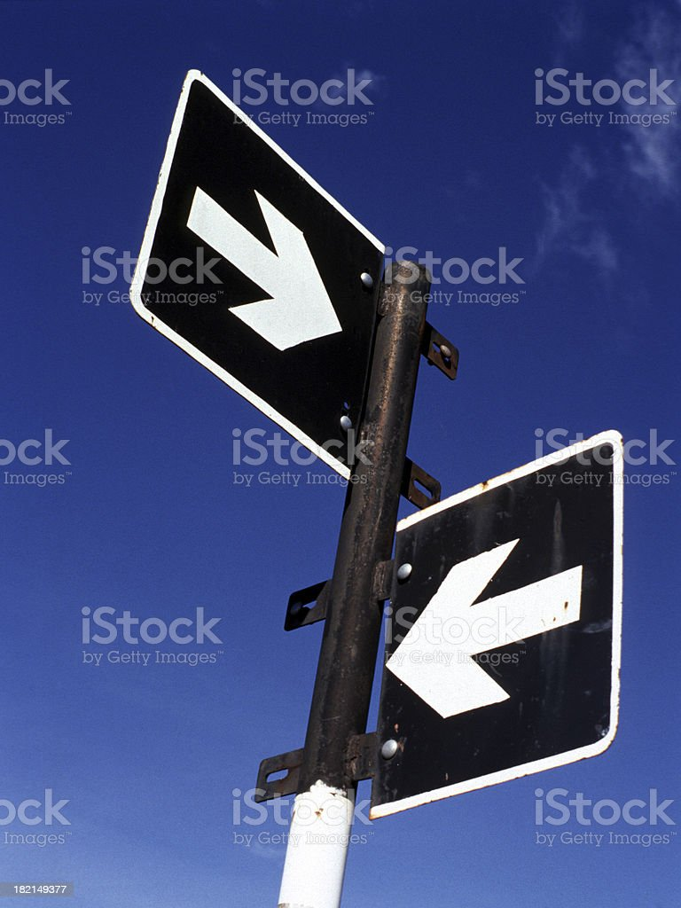 Street signs with only the direction arrows and no names with them