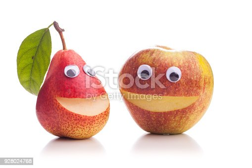 istock Two dissimilar brothers - Apple and Pear 928024768
