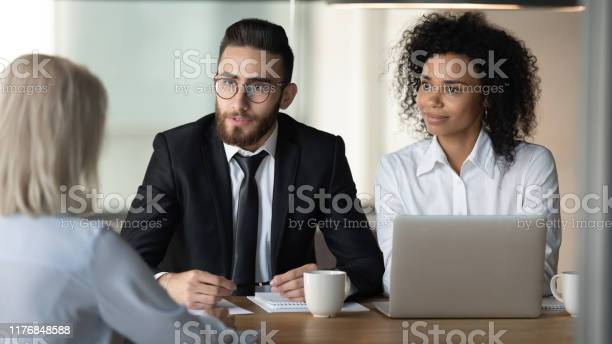 Two diverse hr managers holding job interview with mature applicant picture id1176848588?b=1&k=6&m=1176848588&s=612x612&h=k2nb uf6fkhvqprlphdrrzvhoi9jwkh77jwnqqgr65g=