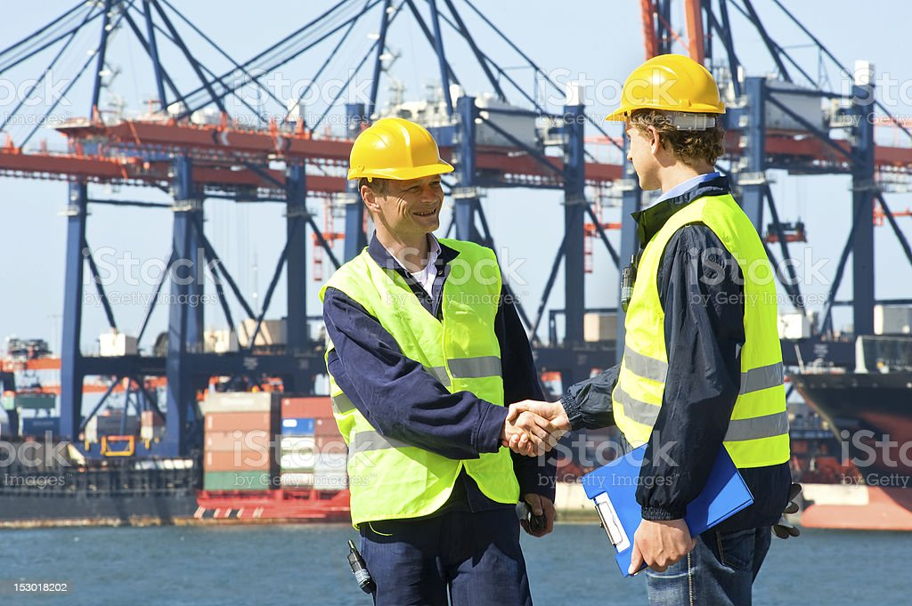 Two Dockers royalty-free stock photo