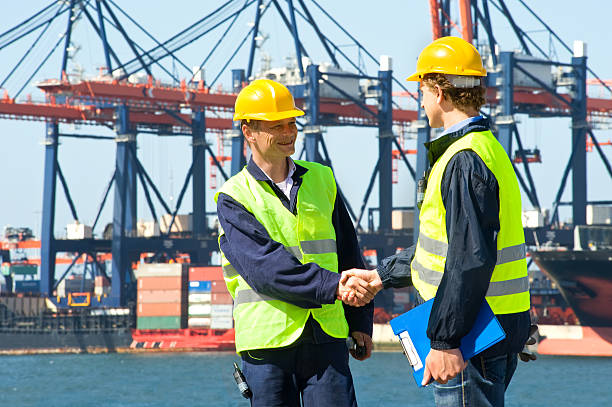 Two Dockers stock photo