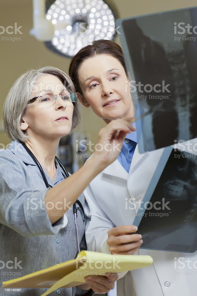 Two Doctors at Hospital royalty-free stock photo