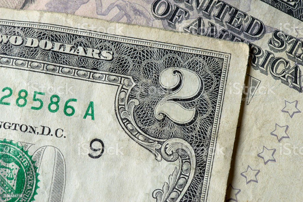 Two Dollar Banknote stock photo