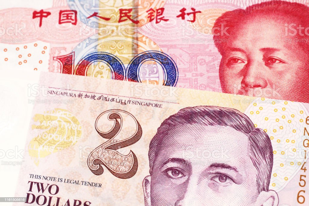 A Two Dollar Bill From Singapore With Chinese Money Stock Photo Download Image Now Istock
