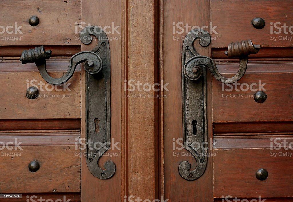 two door handles royalty-free stock photo