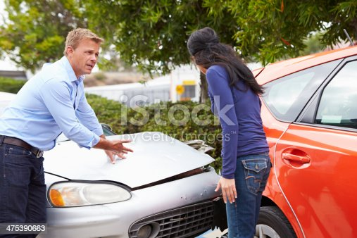 475395935istockphoto Two Drivers Arguing After Traffic Accident 475390663