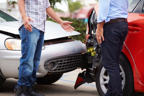 istock Two Drivers Arguing After Traffic Accident 475395935