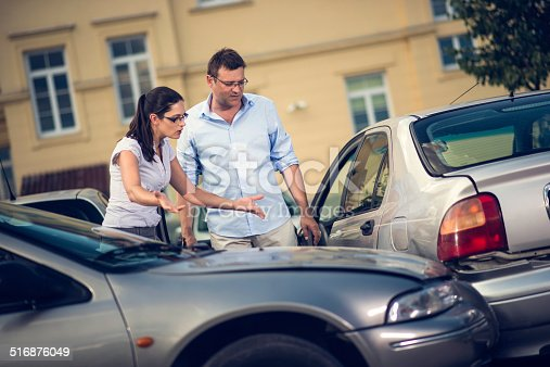 475395935istockphoto Two Drivers Arguing After Traffic Accident 516876049