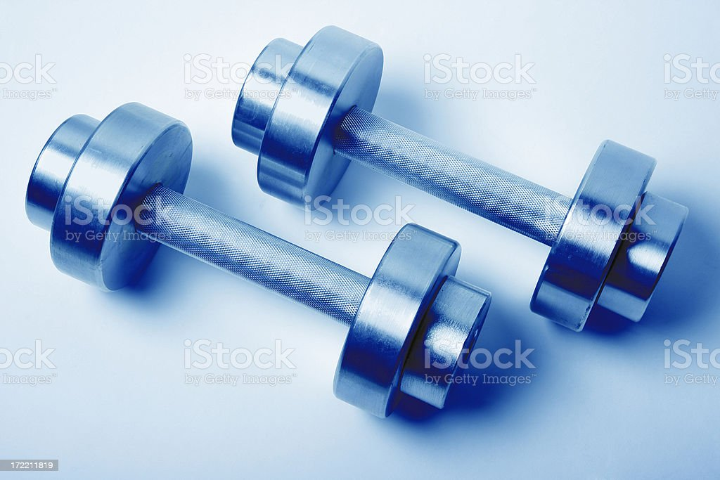 Two dumbbells royalty-free stock photo