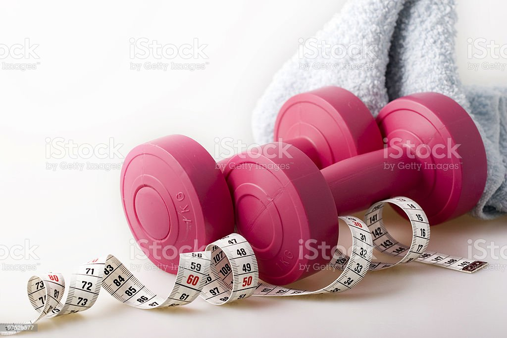 Two dumbbels royalty-free stock photo