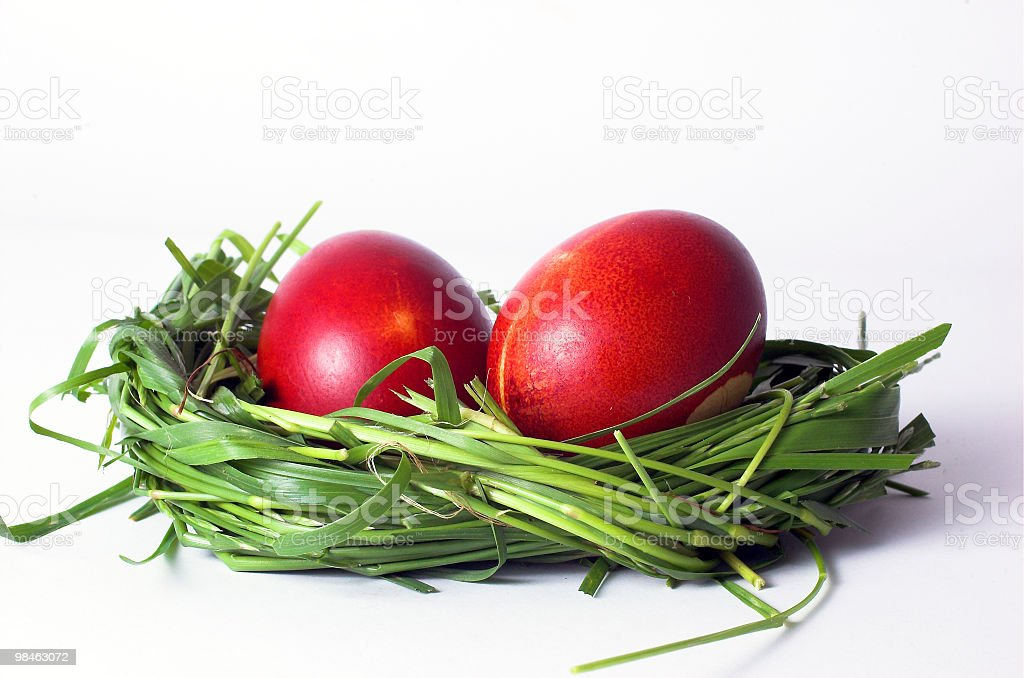 Two Easter Egg royalty-free stock photo