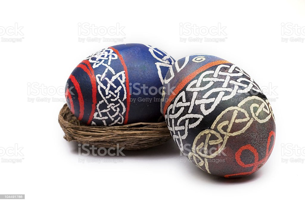 Two easter eggs royalty-free stock photo
