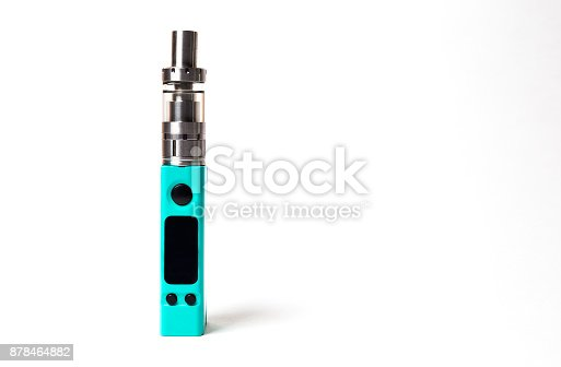 864217444 istock photo two e-cigarette (electronic cigarette, vape) isolated on the white background 878464882