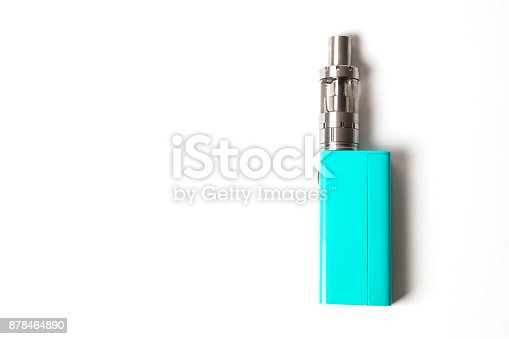 864217444 istock photo two e-cigarette (electronic cigarette, vape) isolated on the white background 878464890