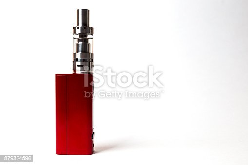 864217444 istock photo two e-cigarette (electronic cigarette, vape) isolated on the white background 879824596