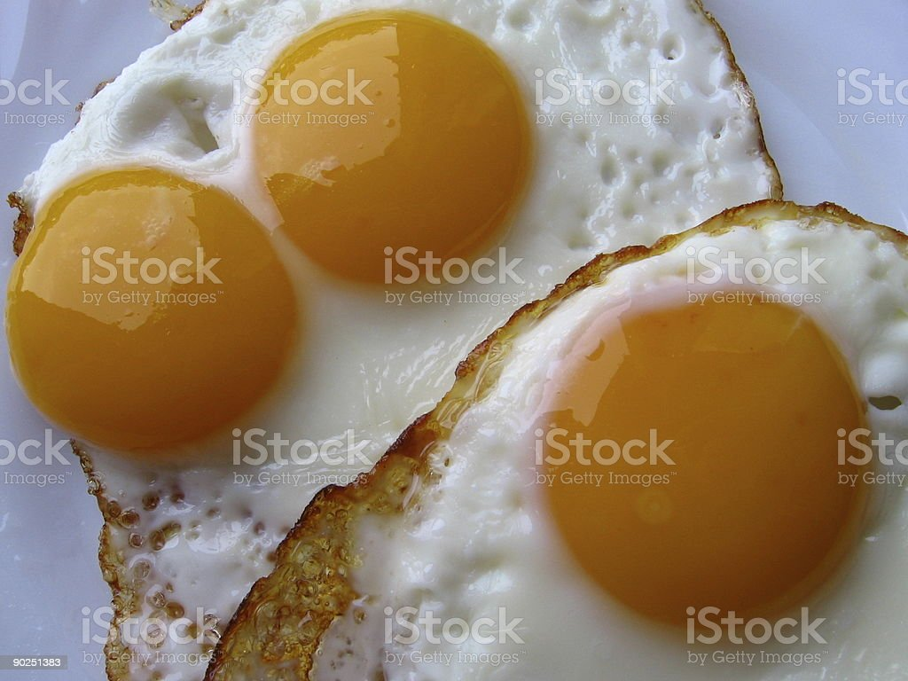 Two eggs close-up stock photo