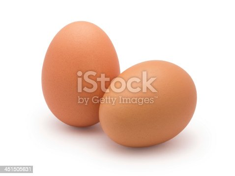 istock two eggs isolated on white 451505631