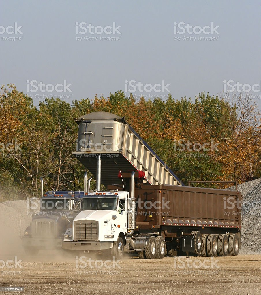 Two Eighteen Wheelers Truck royalty-free stock photo