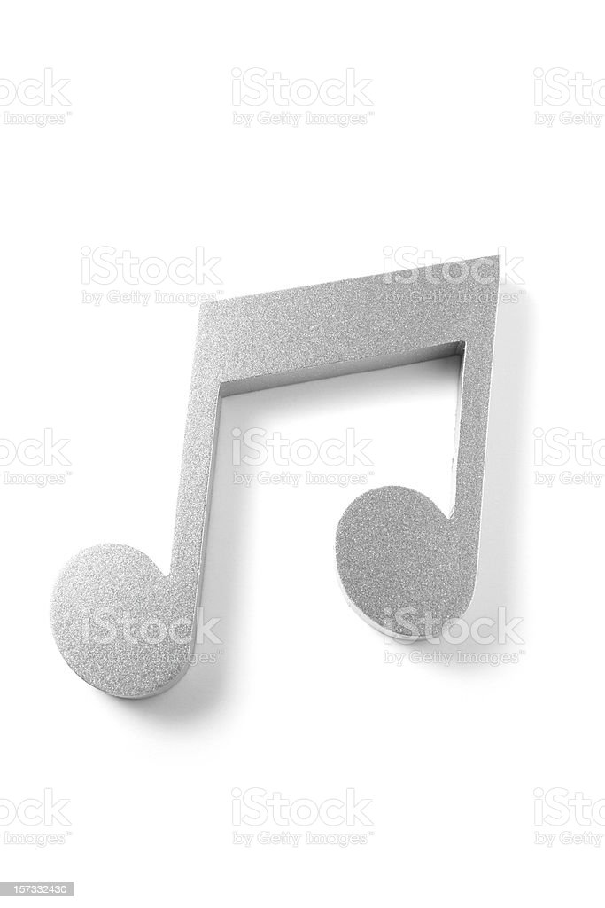 Two Eighth Note royalty-free stock photo