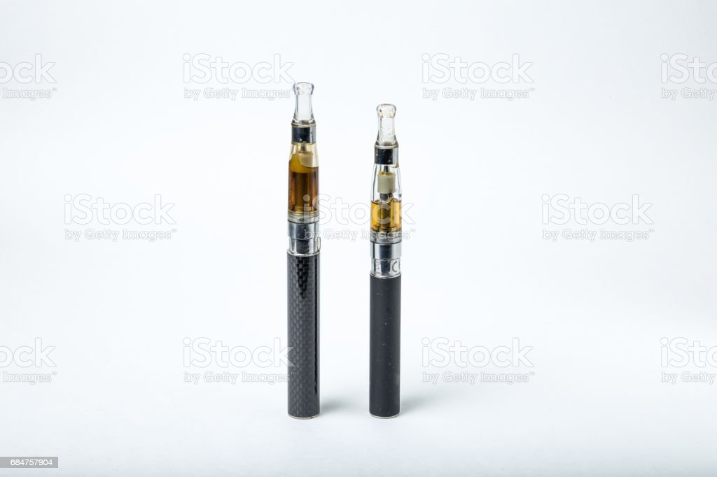 Two electronic cigarette stock photo