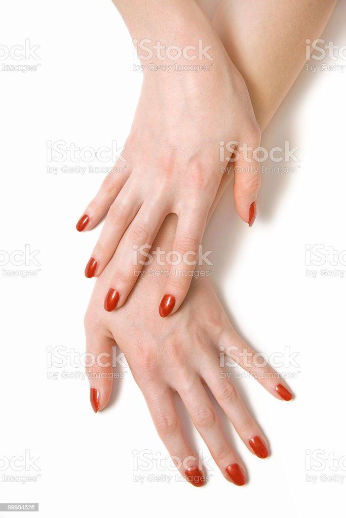 Zwei elegante Frau Hände Lizenzfreies stock-foto
