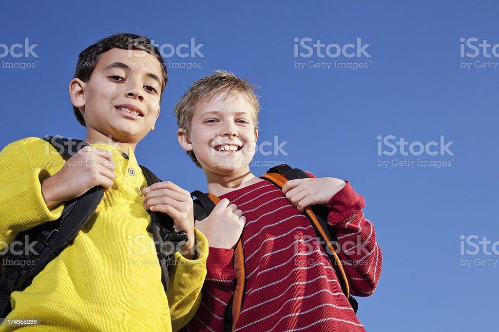 Two elementary school boys royalty-free stock photo