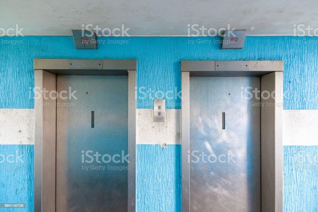 Two elevators in a council housing apartment zbiór zdjęć royalty-free