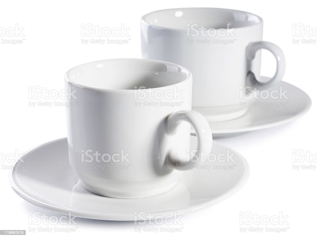 Two empty cups royalty-free stock photo