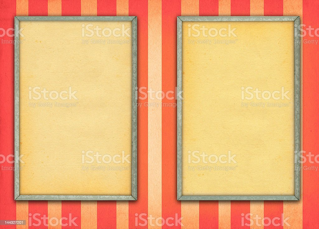 two empty frames royalty-free stock photo
