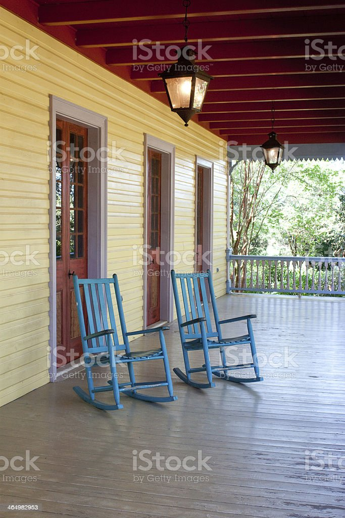 Picture of: Two Empty Rocking Chairs Stock Photo Download Image Now Istock