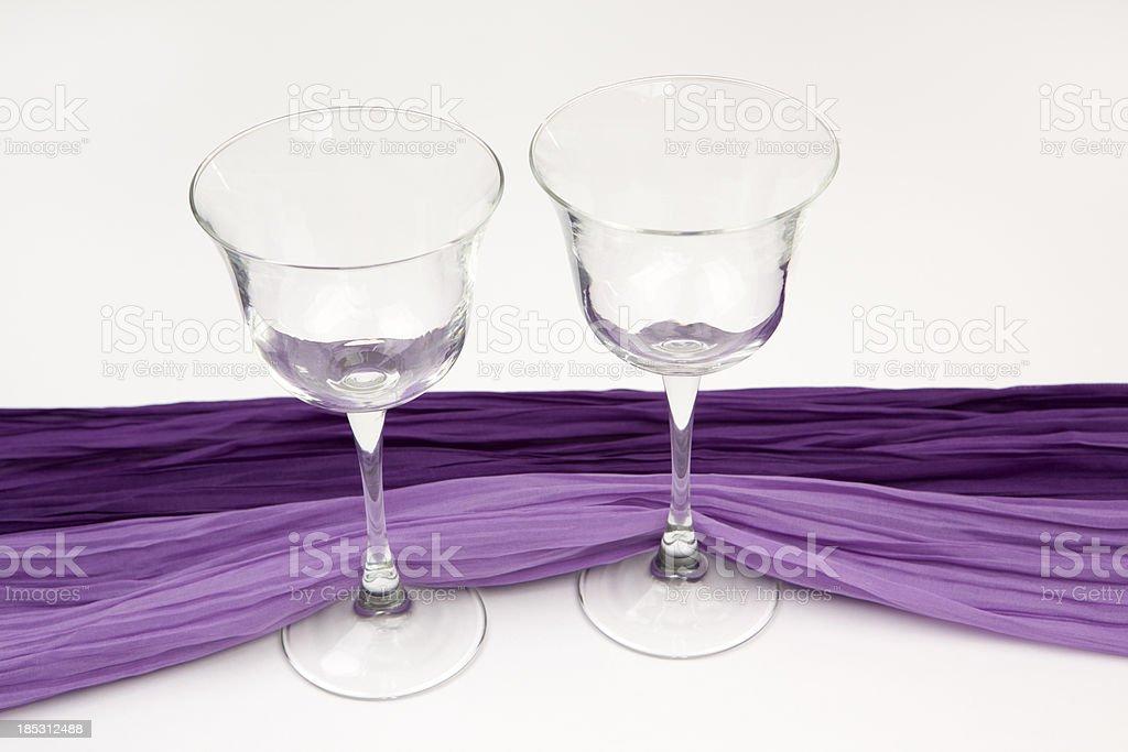 Two Empty Wineglasses stock photo