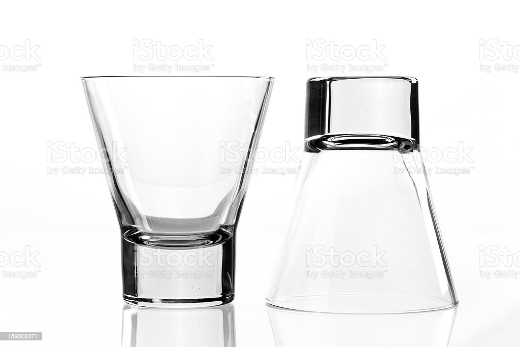 Two empy drink glass royalty-free stock photo