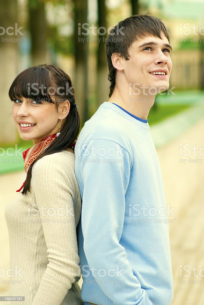 Two enamoured laugh royalty-free stock photo