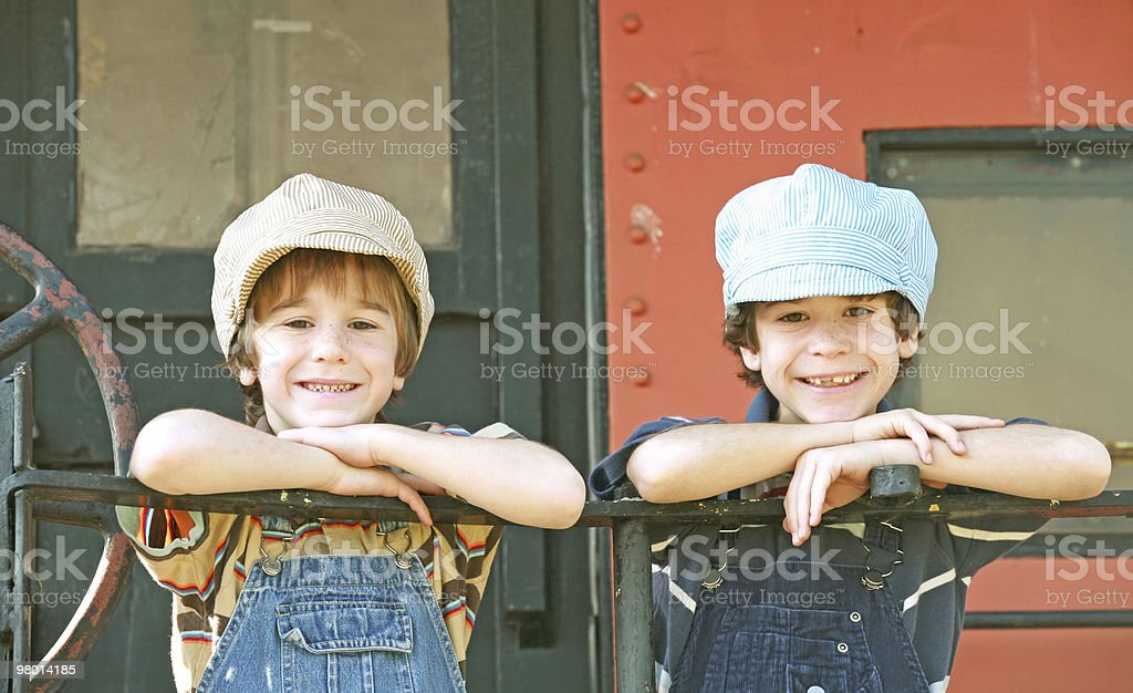Two Engineers royalty-free stock photo