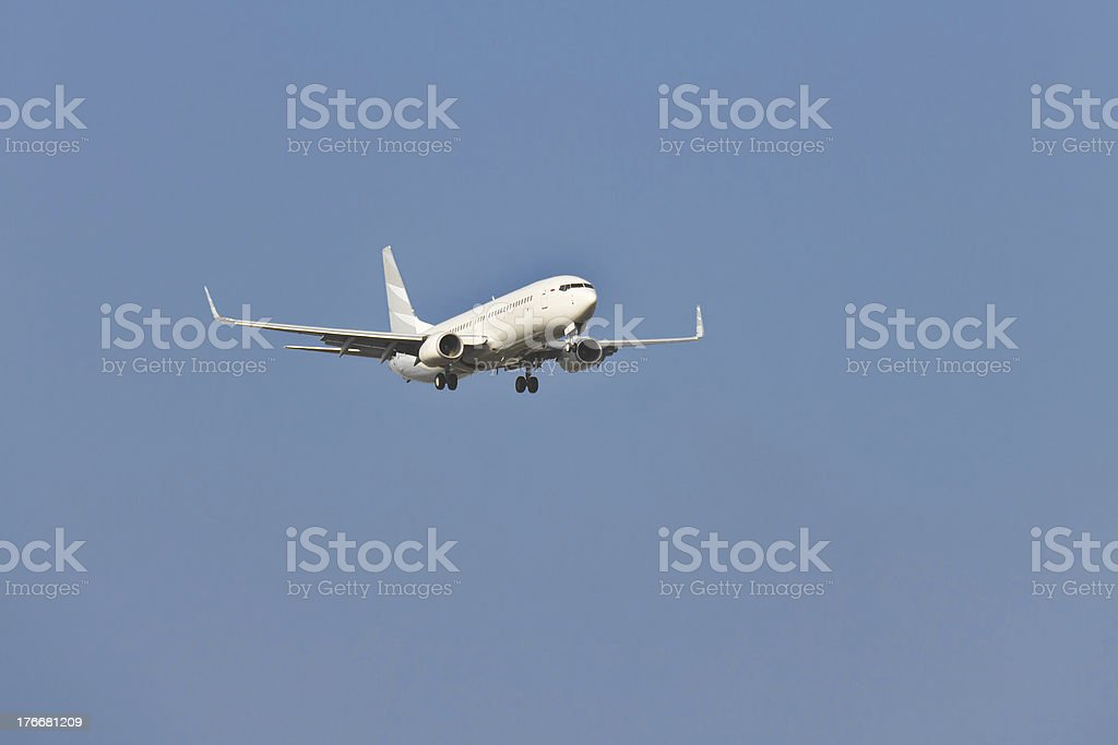 Two engines aircraft royalty-free stock photo