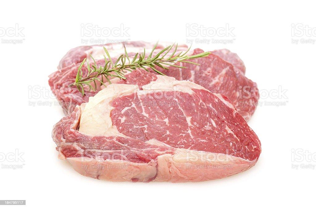 Two entrecote beef steak royalty-free stock photo
