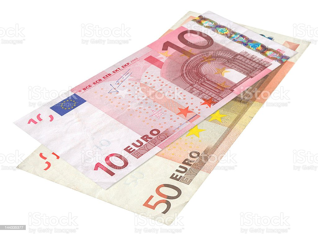 two Euro banknotes stock photo