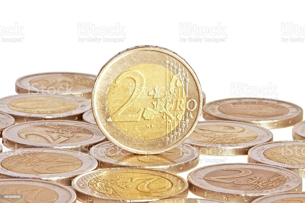 Two euro coin, currency in Europe - Royalty-free Close-up Stock Photo