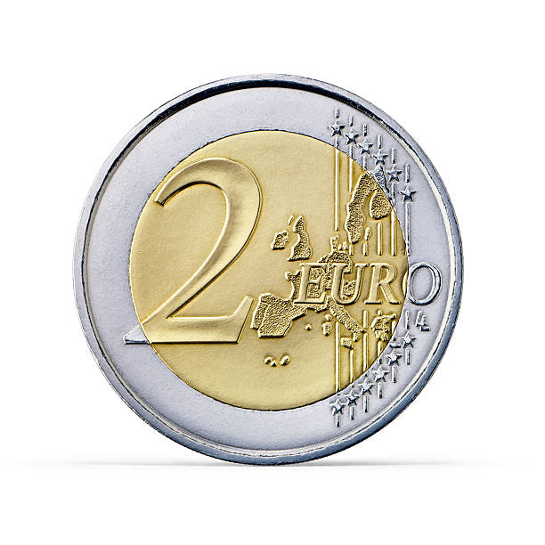 Two Euro coin (+clipping path) A Two Euro coin isolated on white background More like this european union coin stock pictures, royalty-free photos & images