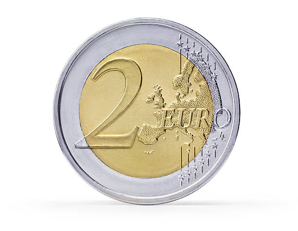 Two Euro coin (+clipping path) foto